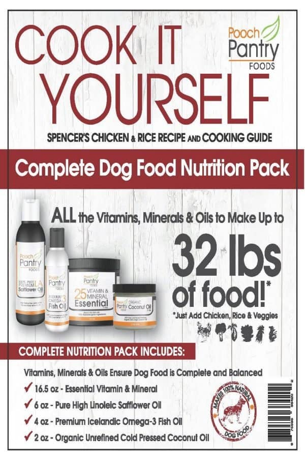 Fresh Homemade All-Natural Dog and Pet Foods - Cook-It-Yourself Homemade Dog Food Recipe & Supplement Pack 2
